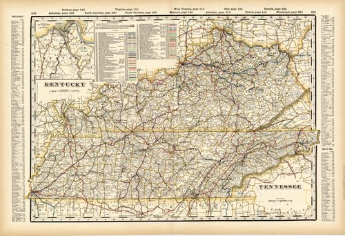 Kentucky and Tennessee (Railroad Map)