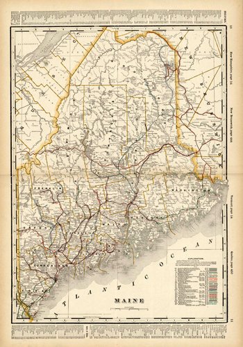 Maine (Railroad Map)