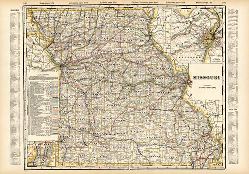 Missouri (Railroad Map)