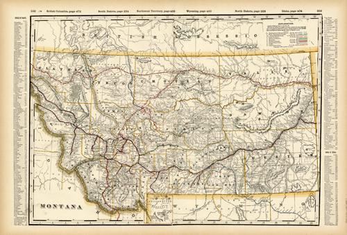 Montana (Railroad Map)