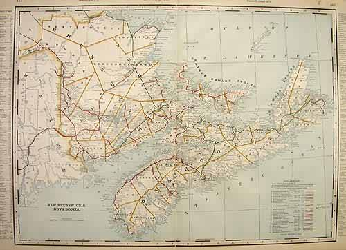 New Brunswick & Nova Scotia (Railroad Map)