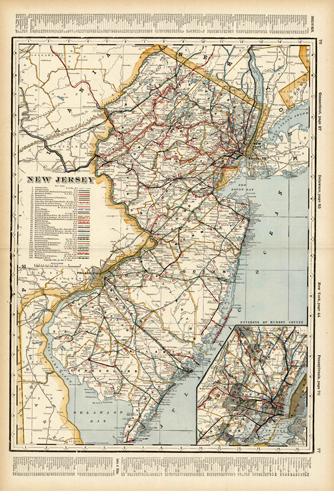 New Jersey (Railroad Map)