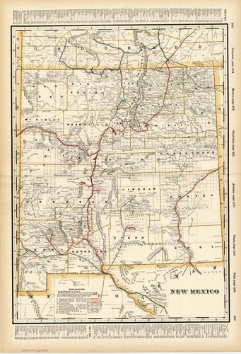 New Mexico (Railroad Map)