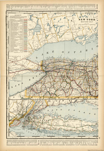 New York Western Half (Railroad Map)