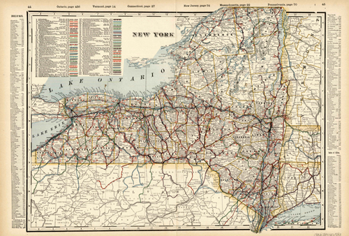 New York (Railroad Map)