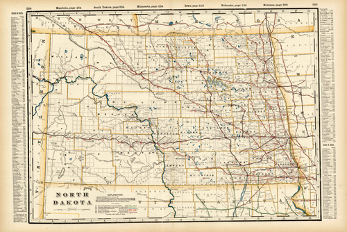 North Dakota (Railroad Map)