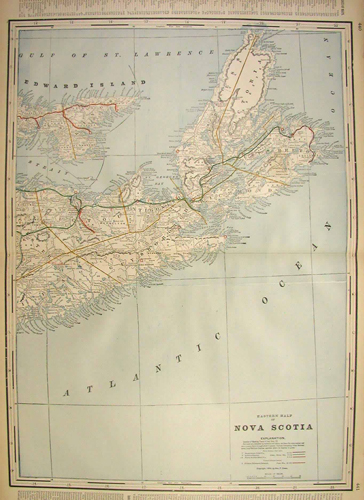 Eastern Half of Nova Scotia (Railroad Map)