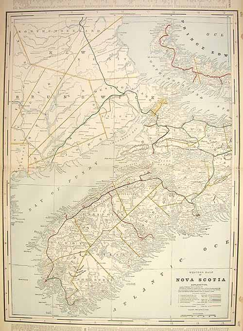 Nova Scotia (Railroad Map) WESTERN