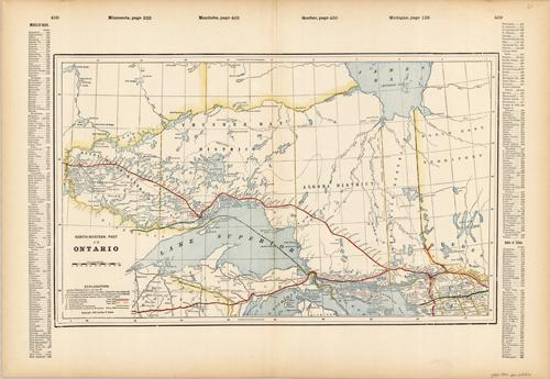 Ontario (Railroad Map)