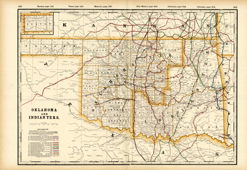Oklahoma and Indian Ters. (Railroad Map)