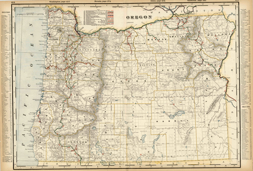 Oregon (Railroad Map)