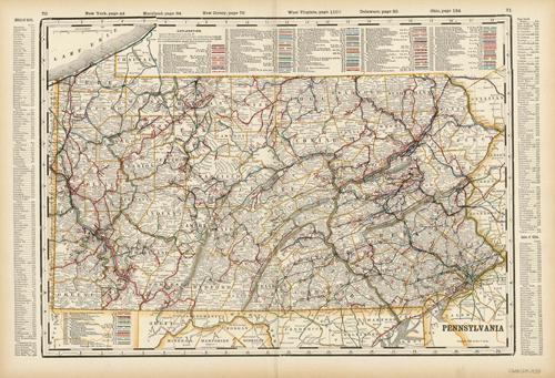 Pennsylvania (Railroad Map)