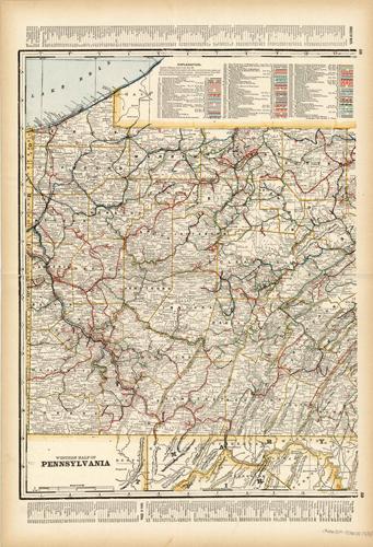 Pennsylvania Western Section (Railroad Map)
