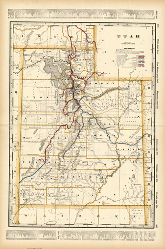 Utah (Railroad Map)