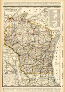 Wisconsin (Railroad Map)