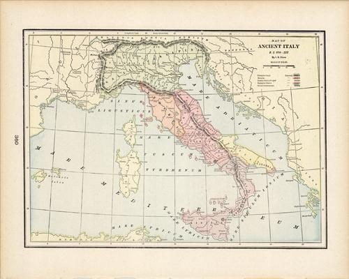 Map of Ancient Italy B.C. 800-222