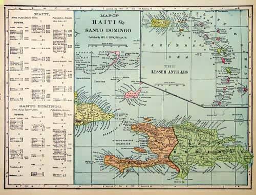Map of Haiti and Santo Domingo
