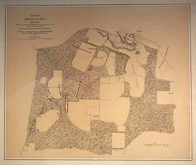 Map of the Battle of Iuka