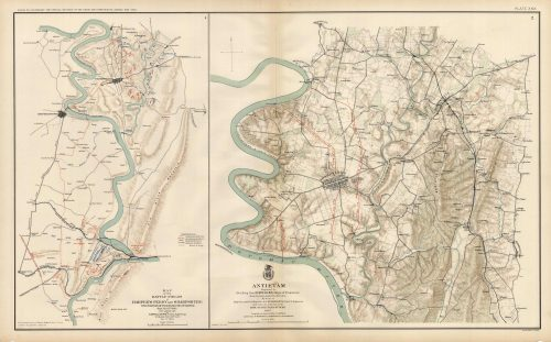 Civil War Atlas; Plate 29; Map of the Battles of Harpers Ferry and Sharpsburg; Antietam'