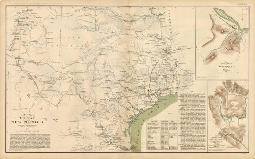 Civil War Atlas; Plate 54; Map of Texas and Part of New Mexico