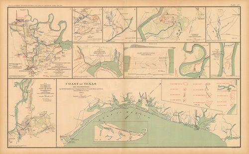 Civil War Atlas; Plate 65; Coast of Texas; Bermuda Hundred