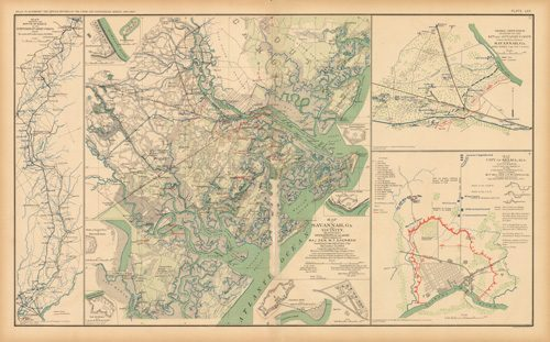 Civil War Atlas; Plate 70; Maps of Savannah