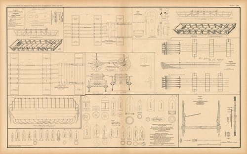 Civil War Atlas: Plate 106; Drawings of Canvas Pontoon Boats