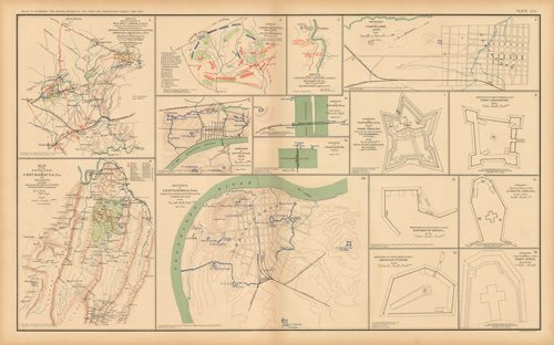 Civil War Atlas: Plate 111; Battle-Field Chickamauga