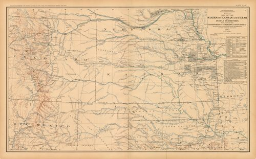 Civil War Atlas; Plate 119; Map of the States of Kansas