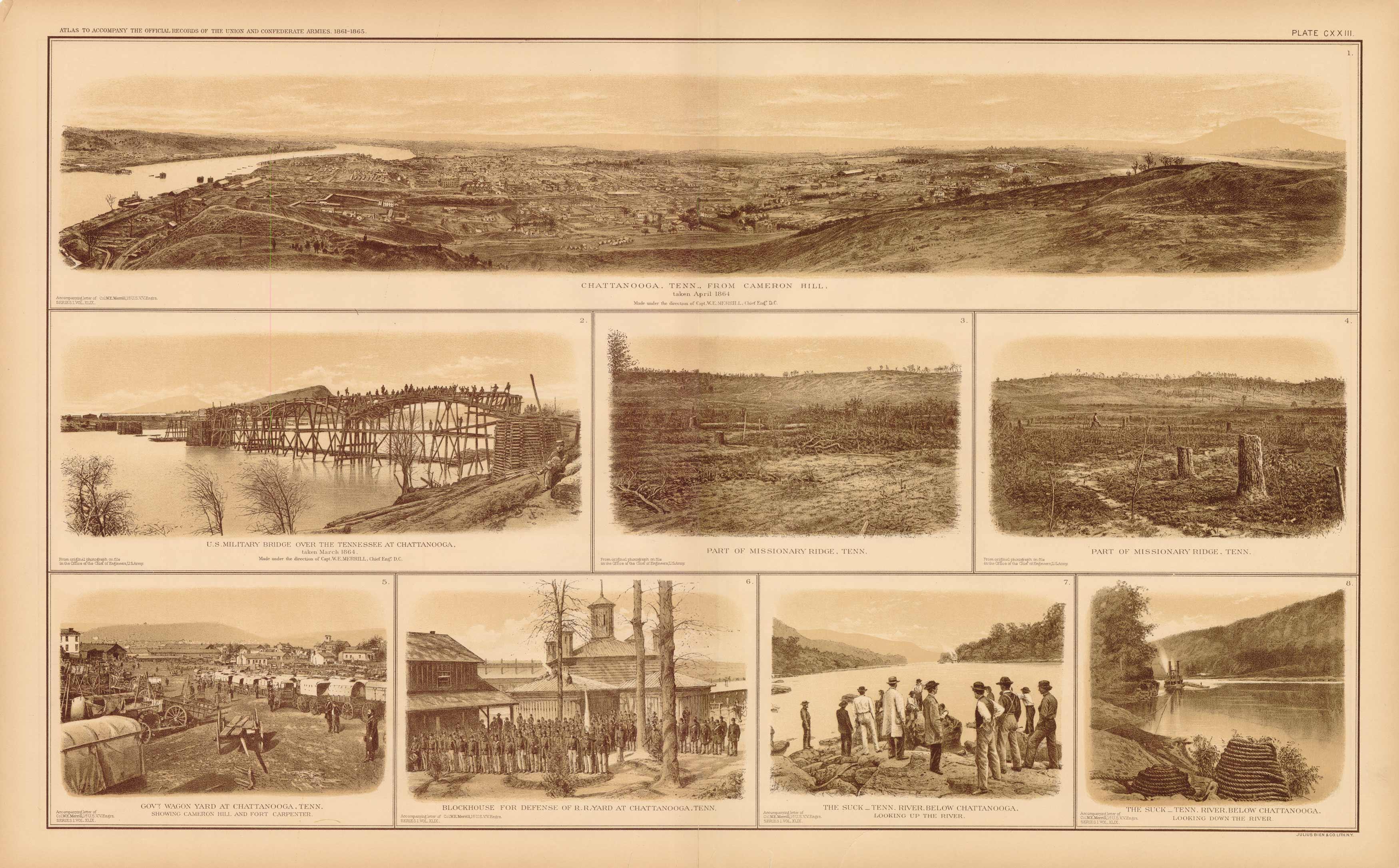Civil War Atlas: Plate 123; Chattanooga