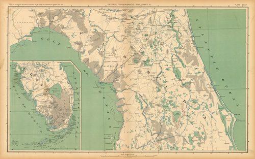 Civil War Atlas: Plate 146; Parts of Florida