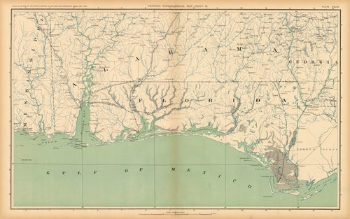 Civil War Atlas: Plate 147; Parts of Misissippi