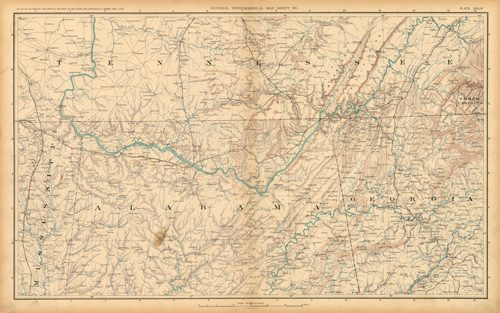 Civil War Atlas: Plate 148; Parts of Misissippi