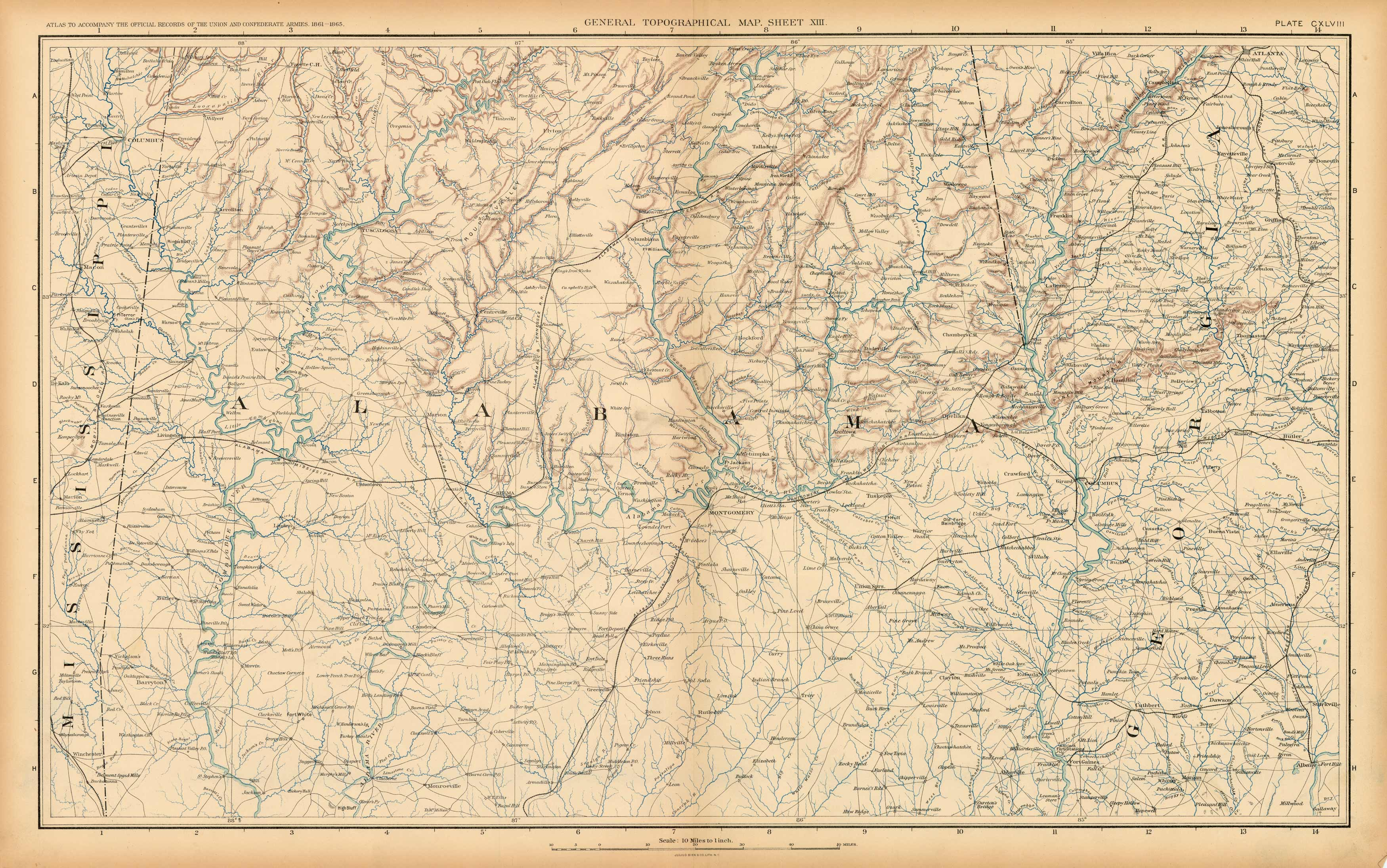 Civil War Atlas: Plate 148; Parts of Misissippi