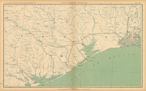 Civil War Atlas: Plate 157; Parts of Texas and Louisiana