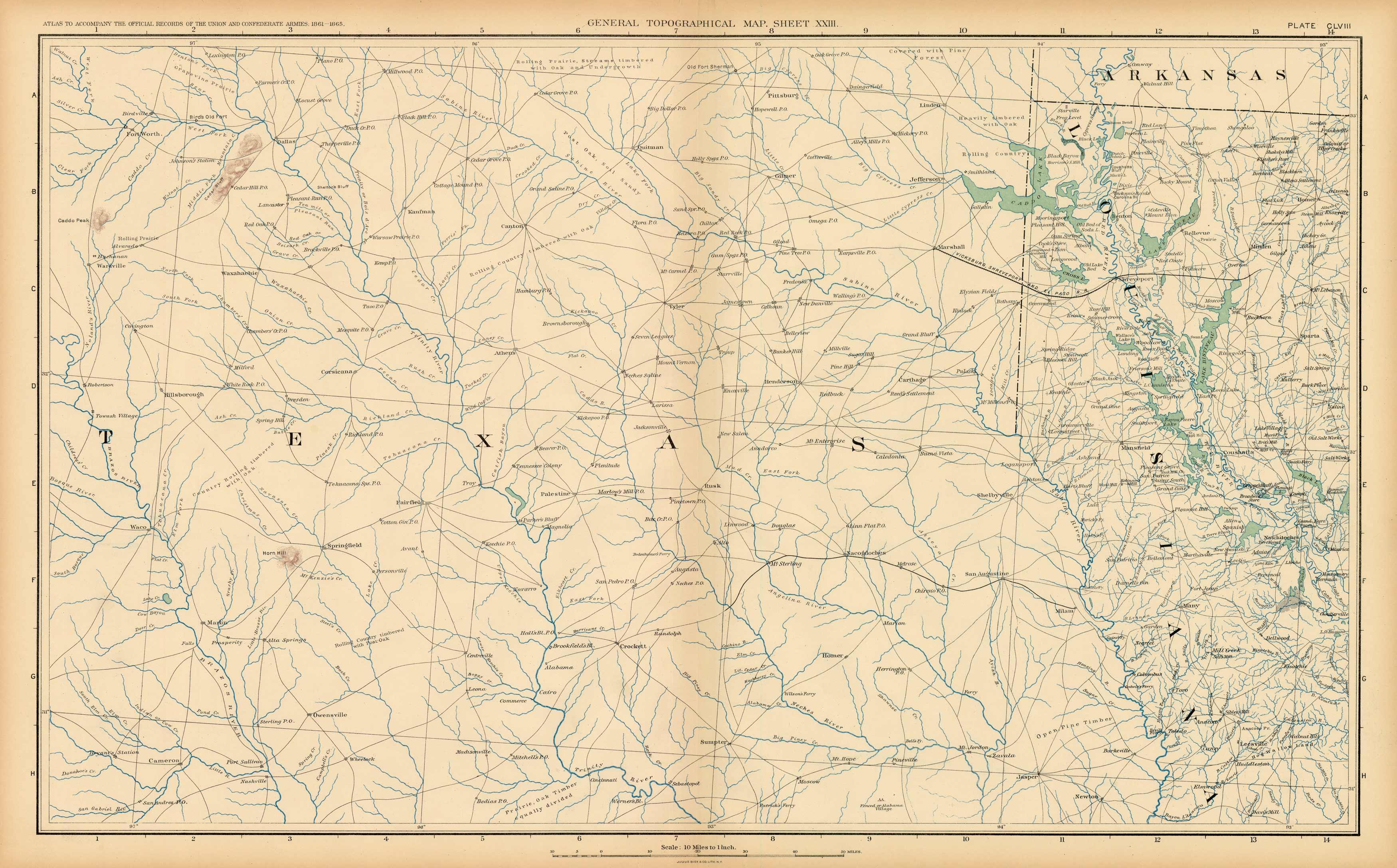 Civil War Atlas: Plate 158; Parts of Texas