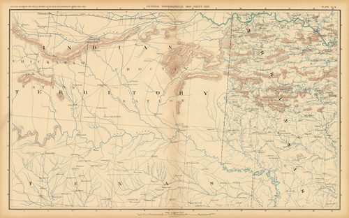 Civil War Atlas: Plate 159; Parts of Indian Territory