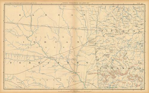 Civil War Atlas: Plate 160; Parts of Kansas