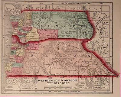 Washington & Oregon Territories