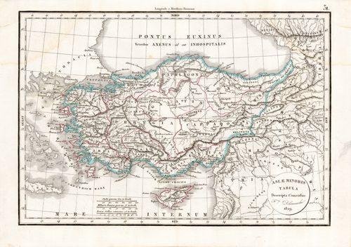 Asiae Minoris Tabula Descripta Conatibus (Asia Minor)
