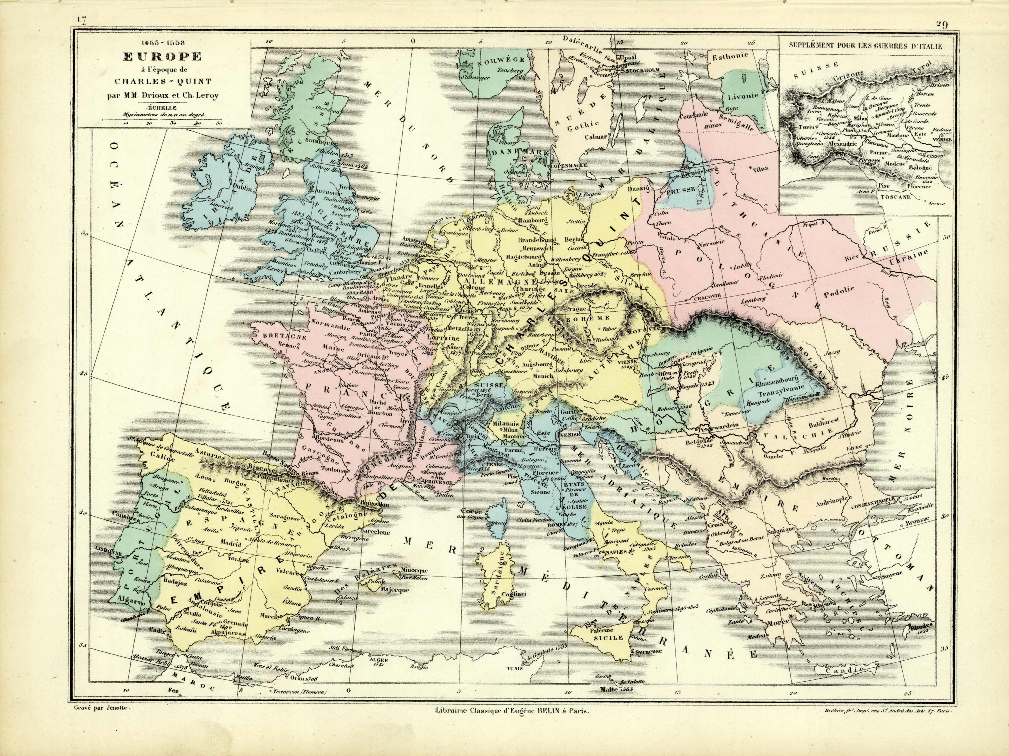 1453-1558 Europe a lepoque de Charles - Quint (1453-1558 Europe in the time of Charles Quint)'