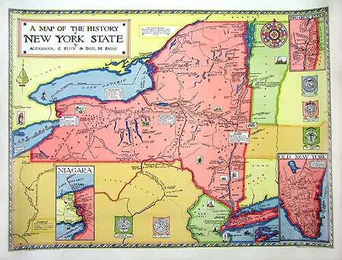 A Map of the History of New York State
