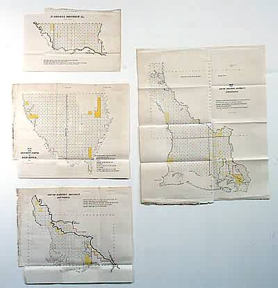 4-Map GLO Set of Louisiana
