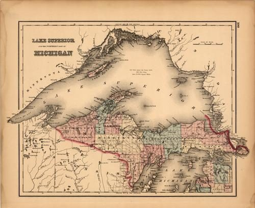 Lake Superior and the Northern Part of Michigan