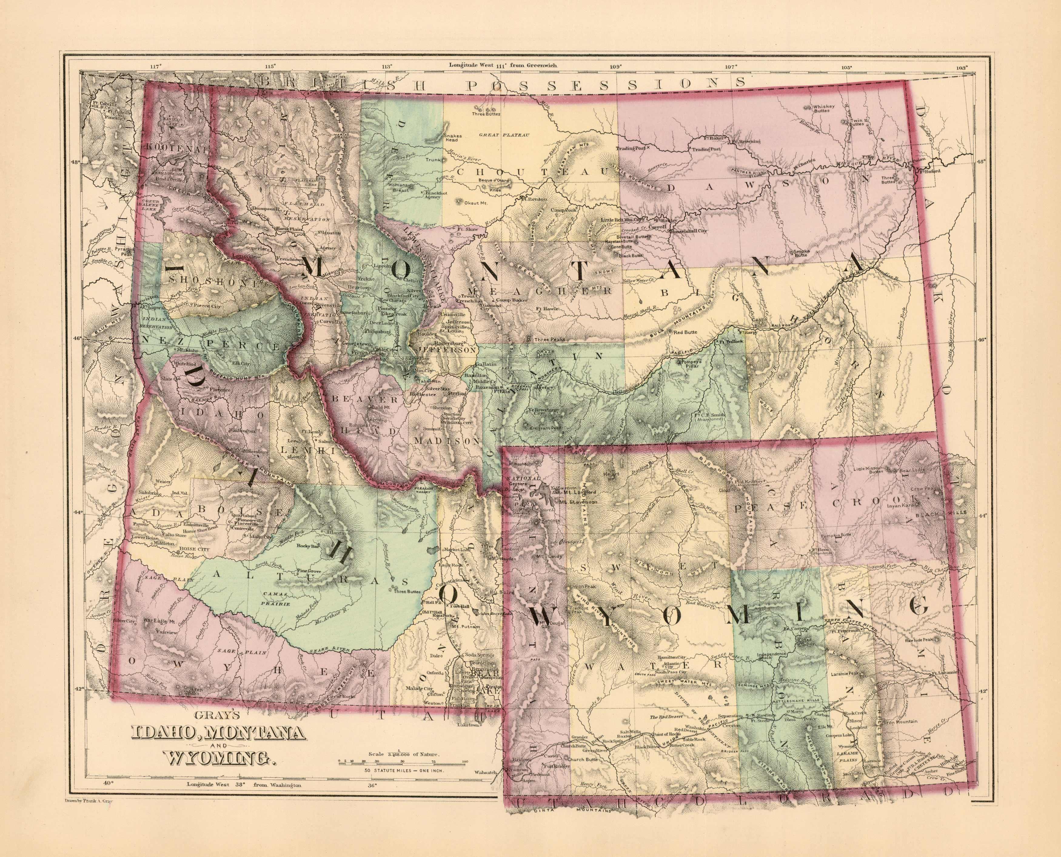 Idaho Montana And Wyoming