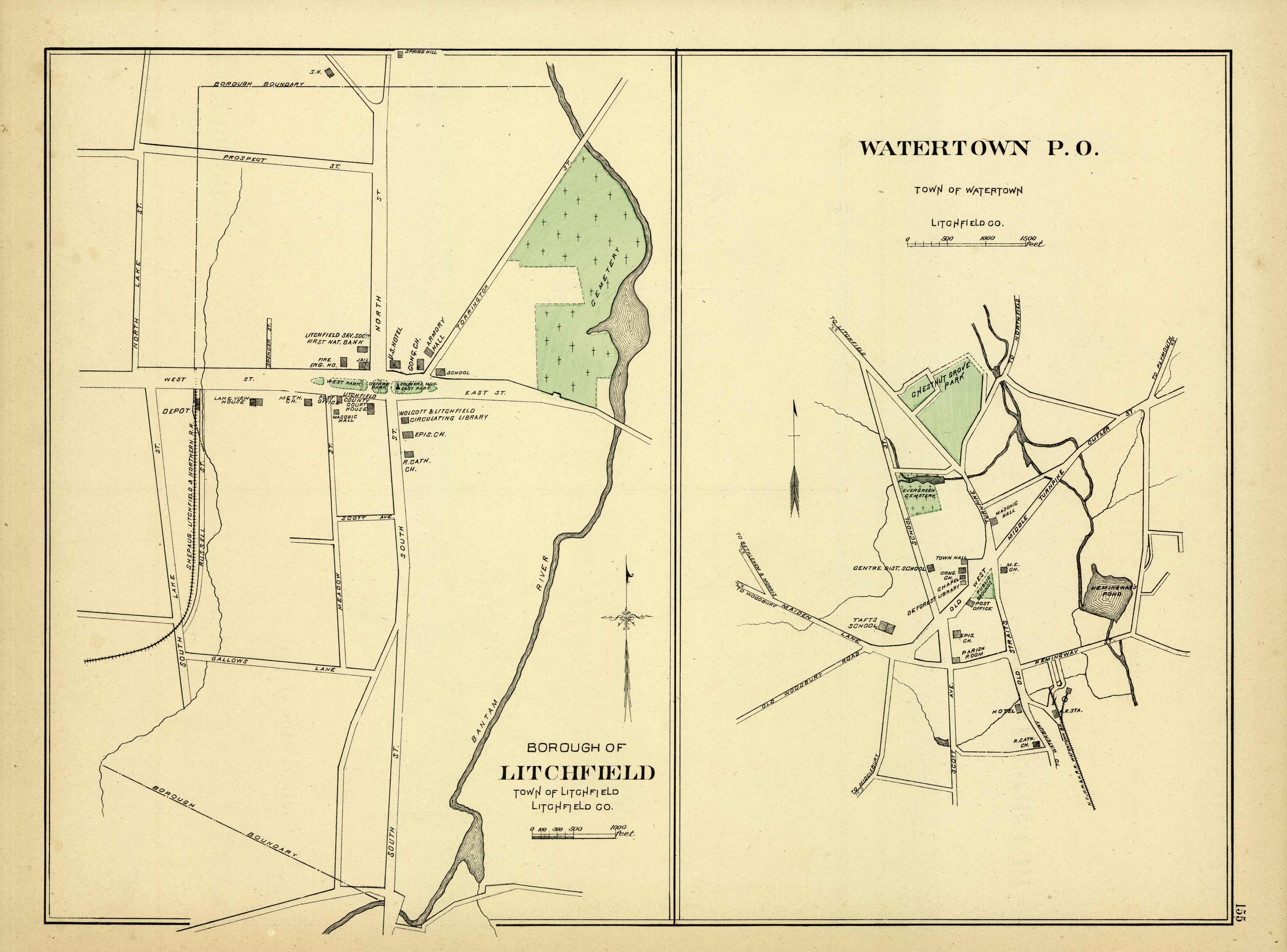 Borough of Litchfield Town of Litchfield, Watertown P.O. Town of Watertown  Litchfield County