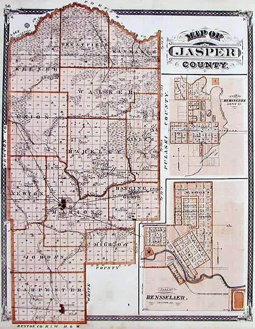 Map of Jasper County