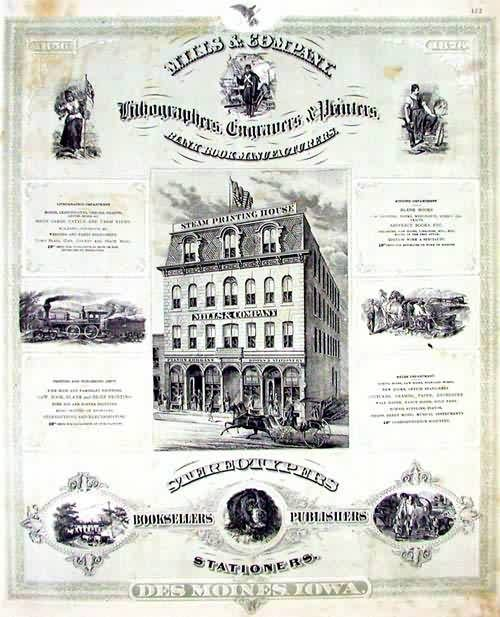 Advertisment for Mills & Company Lithographers