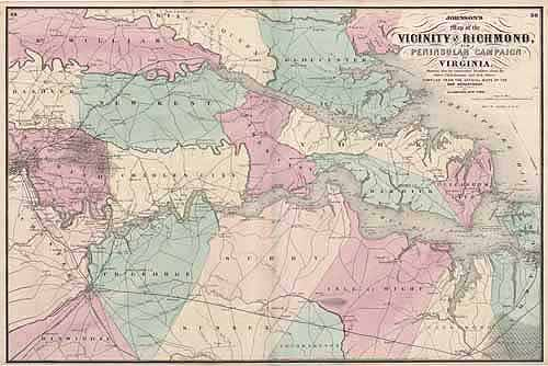 Vicinity of Richmond and Peninsular Campaign in Virginia