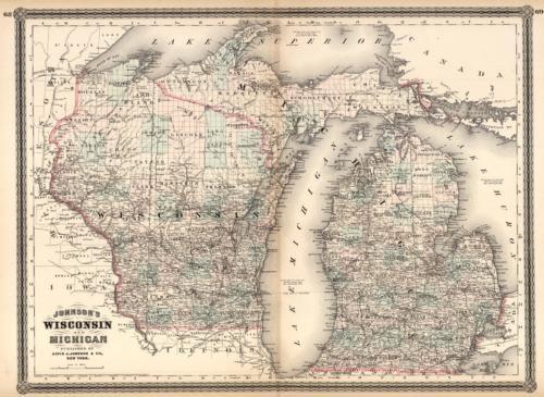 Wisconsin and Michigan
